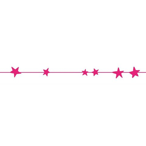Mimilou muursticker sterren frise neon roze
