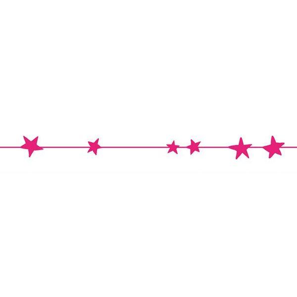 Mimi'lou Mimilou muursticker sterren frise neon roze