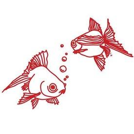 Mimi'lou Mimi'lou muursticker vissen
