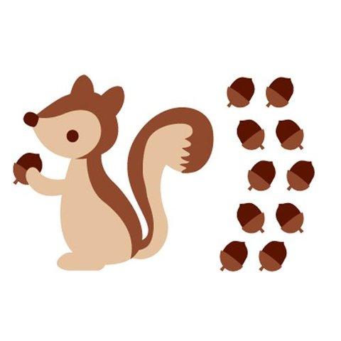 Forwalls muursticker kinderkamer eekhoorn bruin