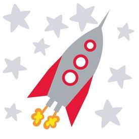 forwalls Forwalls muursticker raket met sterren