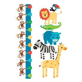 forwalls Forwalls muursticker meetlat jungle dieren