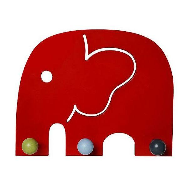 Franck & Fischer Franck and Fischer kinderkapstok  olifant Oscar rood