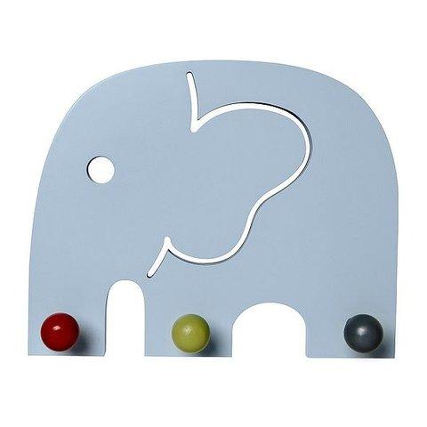 Franck and Fischer kinderkapstok olifant Oscar blauw