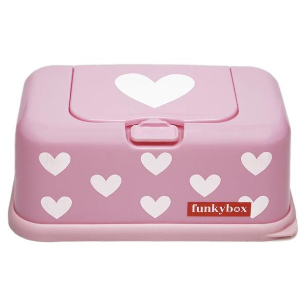 funkybox Funkybox billendoekjes bewaardoos roze hartjes