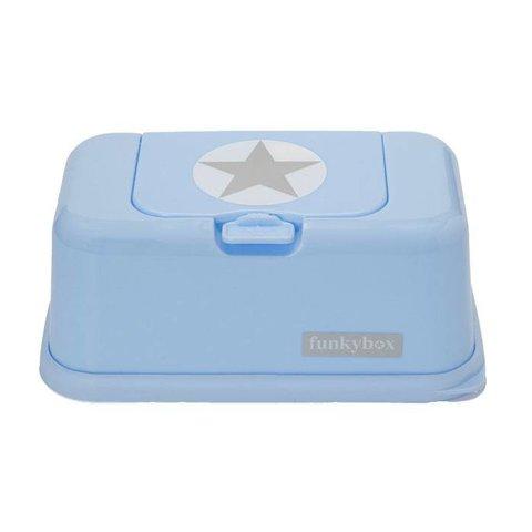Funkybox billendoekjes bewaardoos silver star blauw