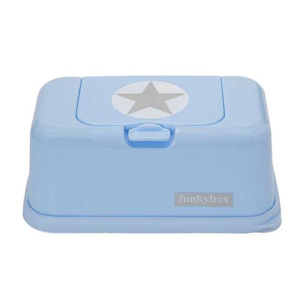 funkybox Funkybox billendoekjes bewaardoos silver star blauw