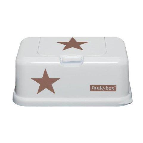 Funkybox billendoekjes bewaardoos wit met koperen  ster