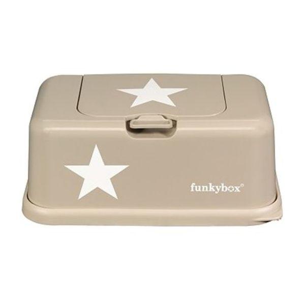 funkybox Funkybox billendoekjes bewaardoos beige met ster