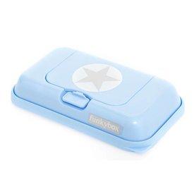 funkybox Funkybox To Go bewaardoos voor billendoekjes en snoetenpoetsers silver star blauw