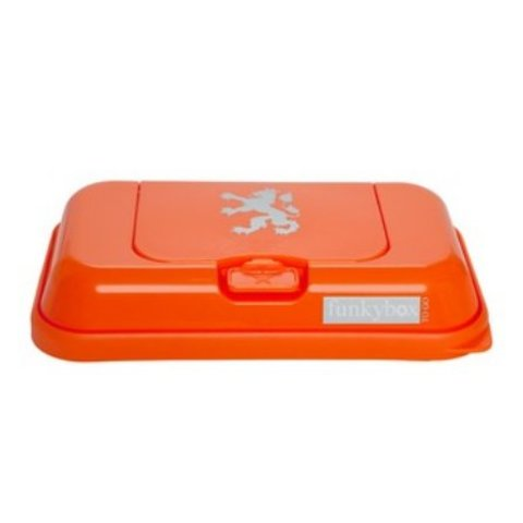 Funkybox To Go bewaardoos voor snoetenpoetsers oranje leeuw