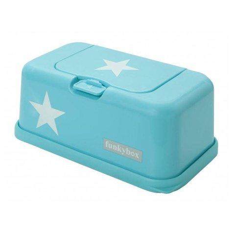 Funkybox billendoekjes bewaardoos turquoise ster