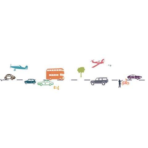 Mimilou muursticker autos multikleur