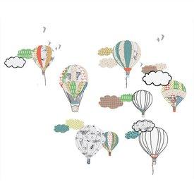 Mimi'lou Mimilou muursticker luchtballonnen