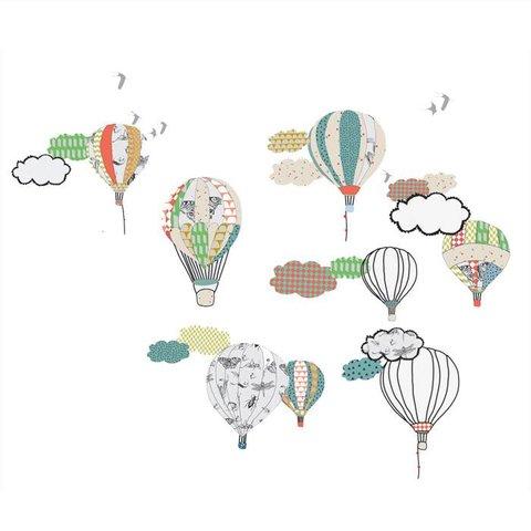 Mimilou muursticker luchtballonnen