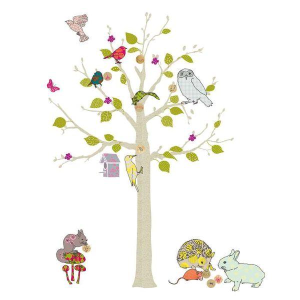 Mimi'lou Mimilou muursticker boom arbre enchantee