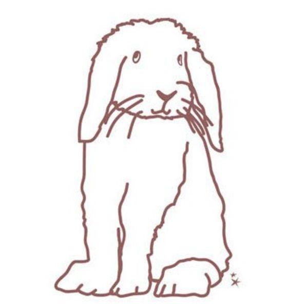 Mimi'lou Mimilou muursticker konijn
