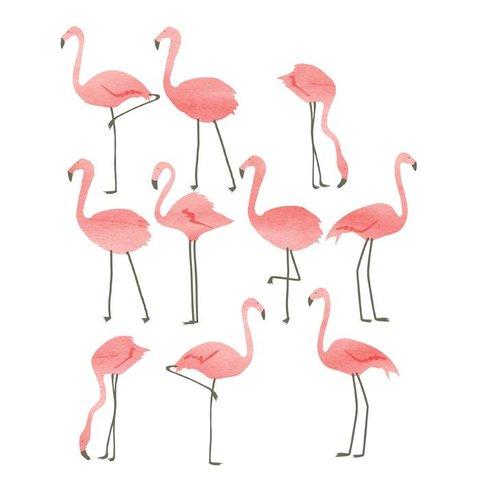 Mimilou muursticker flamingo's mini