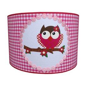 Juul Design Juul Design kinderlamp uil roze/rood