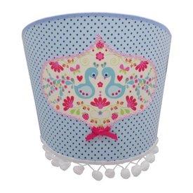 Juul Design Juul Design wandlamp vogels pauw blauw
