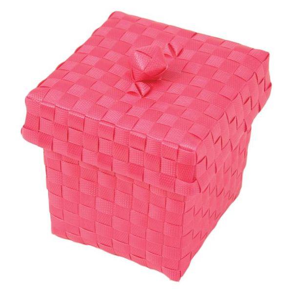 Handed By Handed By opbergmandje Ascoli met deksel pink