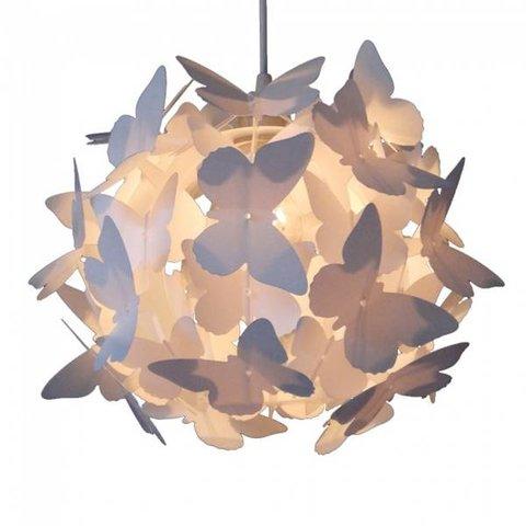 Kinderlamp vlinderliefde wit
