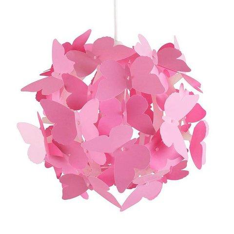 Kinderlamp vlinders rond roze