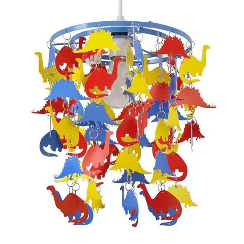 Kinderlamp dinosaurus multikleur