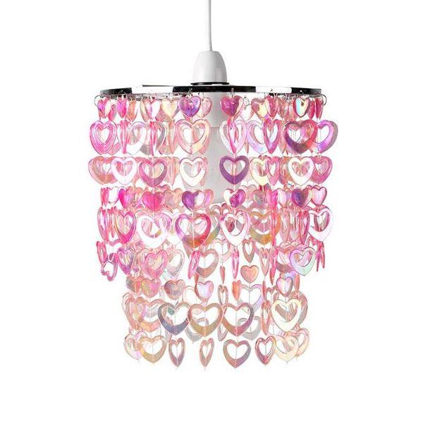Sass & Belle Kinderlamp hartjes roze