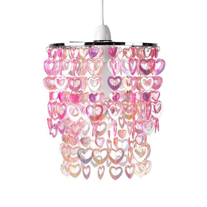 RJB Stone Kinderlamp hartjes roze  Kidzsupplies