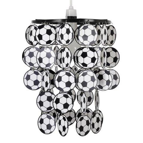 Kinderlamp voetbal zwart wit
