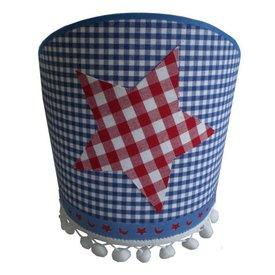 Juul Design Juul Design wandlamp blauw met rode ster