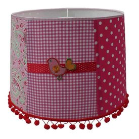 Juul Design Juul Design kinderlamp vogel patchwork pink bird