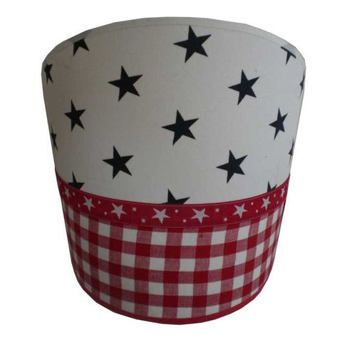 Juul Design wandlamp stars and stripes rood