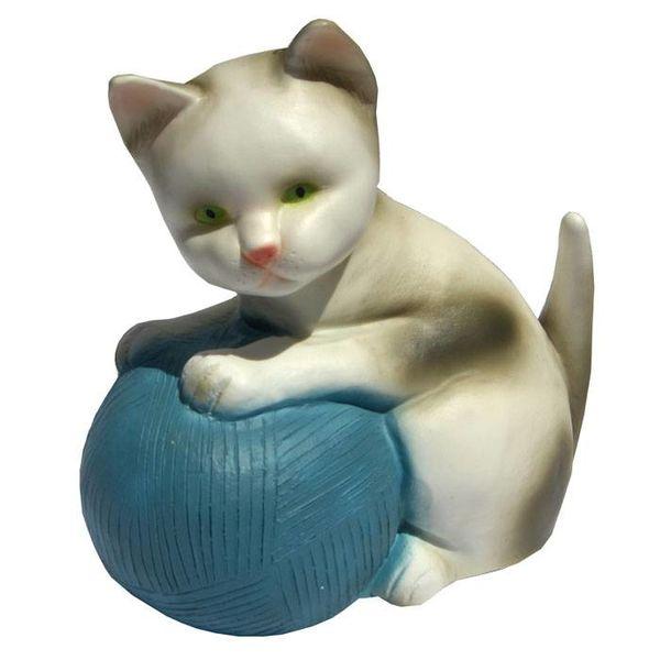 Heico figuurlampen Figuurlamp poes met blauwe bal