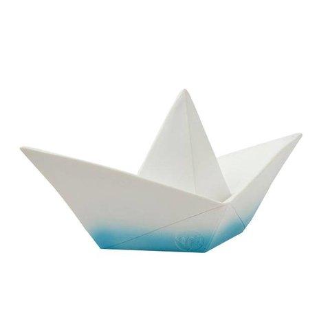 Figuurlamp boot origami blauw