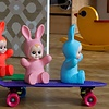 Kinderlamp konijn baby bunny blauw