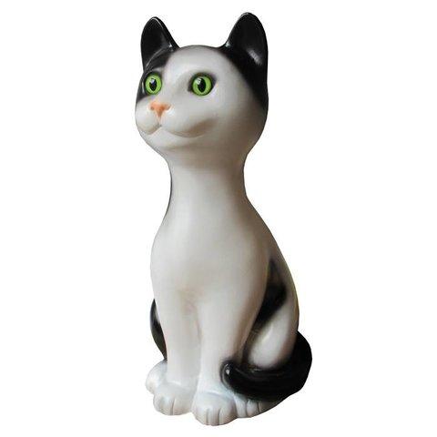 Figuurlamp poes Cleo zwart wit