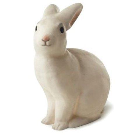 Figuurlamp klein konijntje wit/grijs