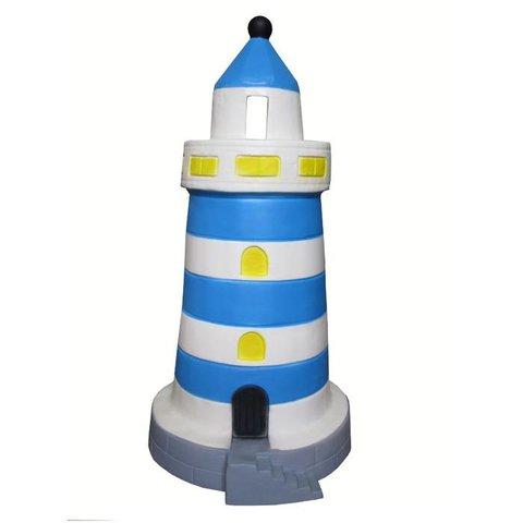 Kinderlamp vuurtoren blauw groot