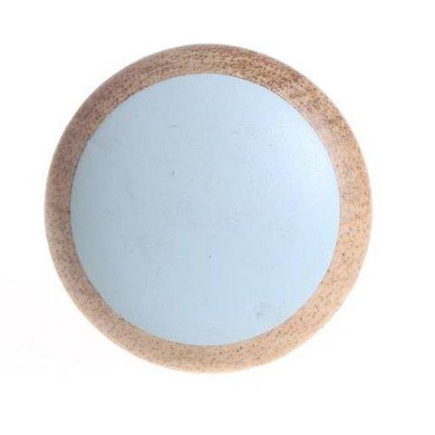 La Finesse deurknopje hout blauw groen