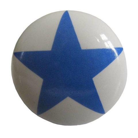 La Finesse kastknopje wit met blauwe ster