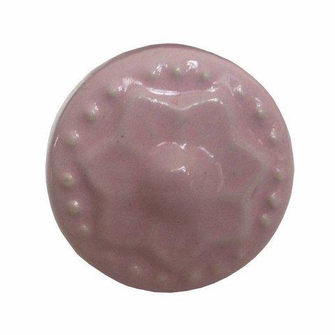 Deurknop porselein ster roze mini