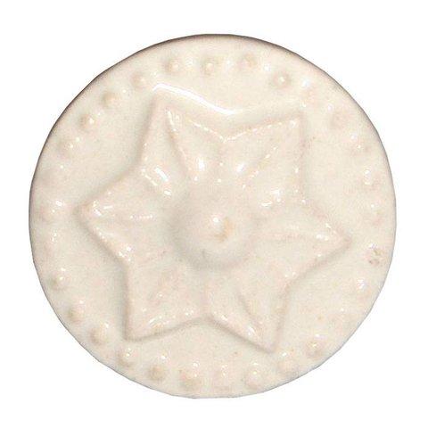 Deurknop porselein ster creme klein