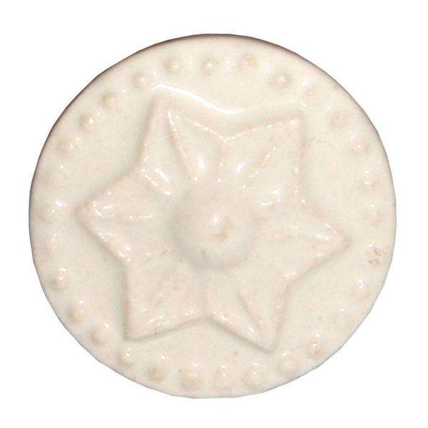 Harvey's Home Deurknop porselein ster creme klein