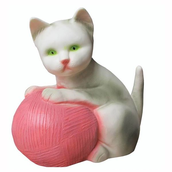 Heico figuurlampen Figuurlamp poes met roze bal