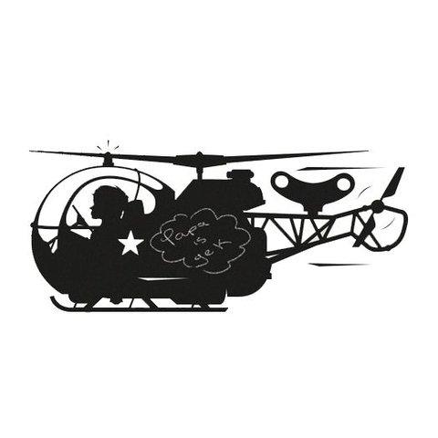 Kek Amsterdam muursticker krijtbord helicopter