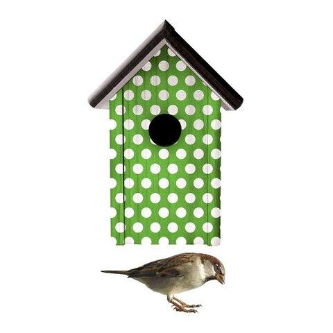 KEK Amsterdam muursticker vogelhuisje groen