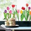 Nouvelles Images raamsticker XL tulpen