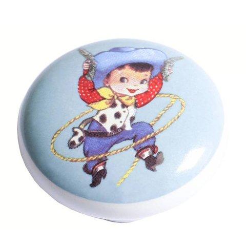 Kastknopje kinderkamer cowboy